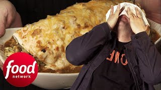 Adam Tries To Beat The Legendary 7LB Breakfast Burrito Challenge | Man v. Food