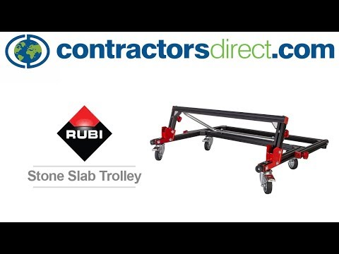 Rubi Tools Stone Slab Trolley Demonstration