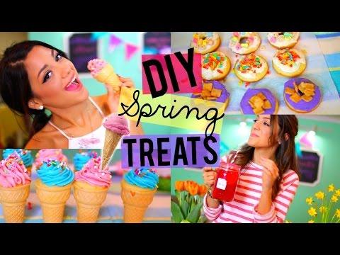Easy + Yummy Spring Treats! DIY Donuts, Ice-cream Cupcakes + Strawberry Lemonade!