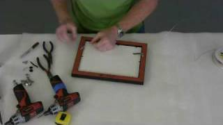 Framing Assembling/fitting Art Into Picture Frame Vid 2