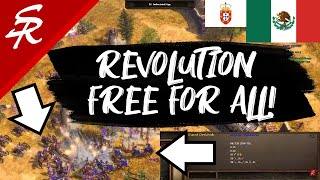 REVOLUTION Free For All with Portugal!! | Classic & Casual | Age of Empires III