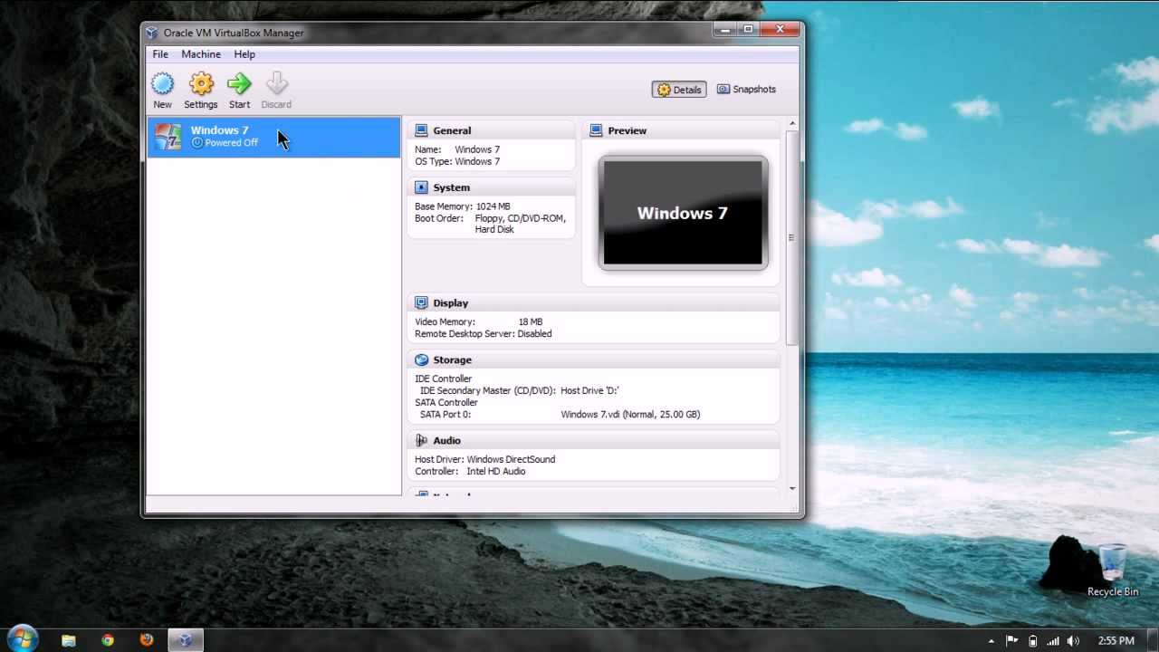 VirtualBox - Connect CD Drive and USB Ports