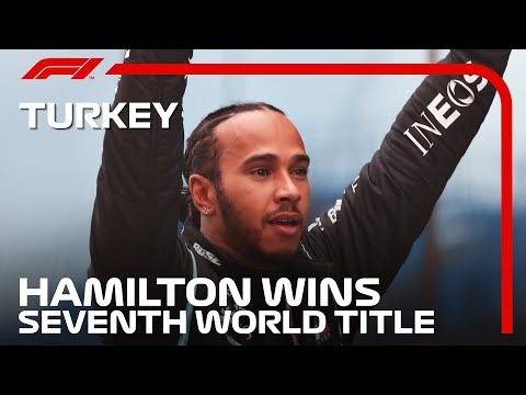Lewis Hamilton Celebrates Winning His SEVENTH World Title | 2020 Turkish Grand Prix