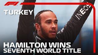 Lewis Hamilton Celebrates Winning His SEVENTH World Title | 2020 Turkish Grand Prix