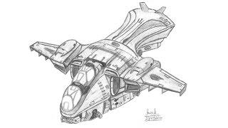 """Прорисовка D79-TC """"Пеликан"""" из HALO / How to draw D79-TC """"Pelican"""" from HALO"""