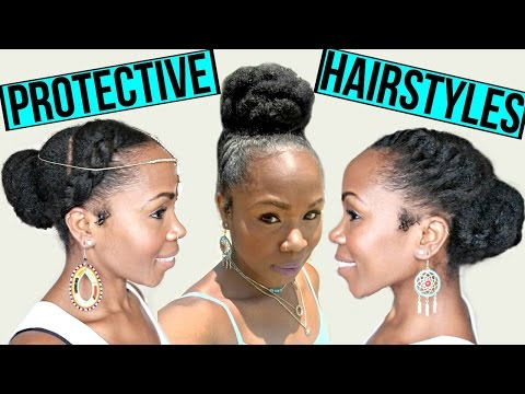 FAST Protective Hairstyles For Hair Growth & Length Retention   NATURAL HAIR