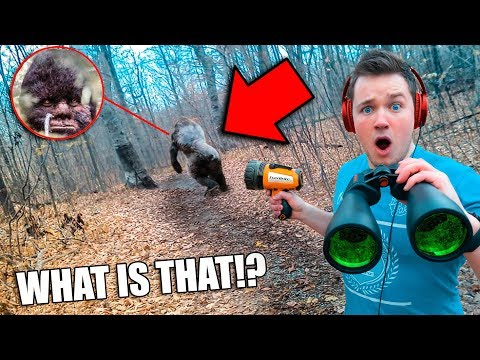 I Found BIGFOOT in Real Life using SPY GADGETS  (Sasquatch Evidence)
