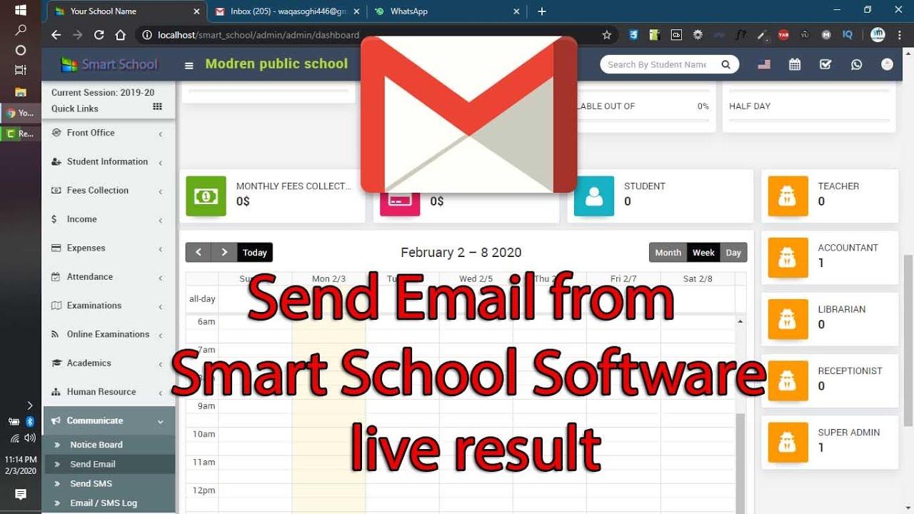 How configure SMTP  Email in Smart School Software