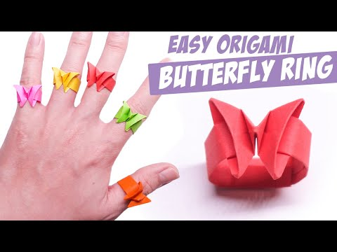 Easy Origami Butterfly Rings    Gary Origami