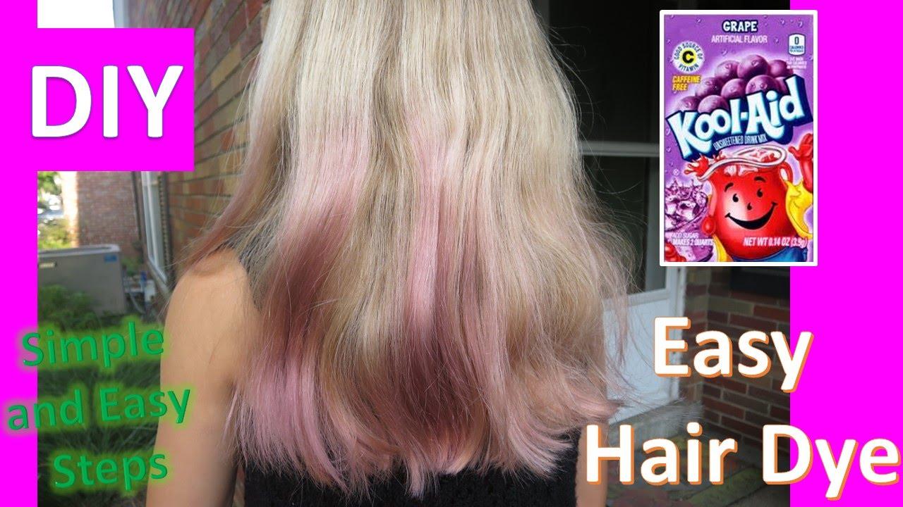 testing kool-aid hair dye diy