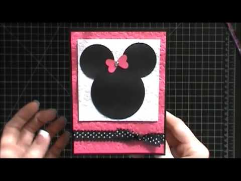 Stampin Up Minnie Mouse Birthday Card Youtube