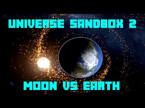 Universe Sandbox ² - Moon Vs. Earth w/ Roche Limit [Alpha 19 Preview]