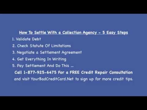 How To Settle With a Collection Agency
