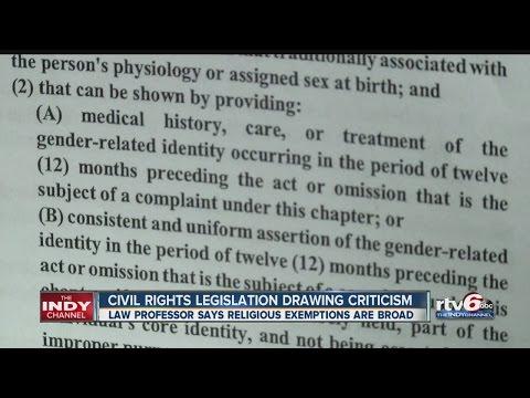 Civil rights legislation drawing criticism