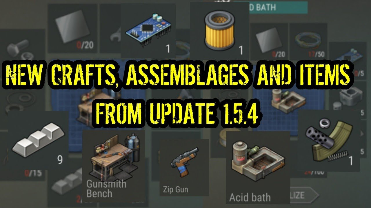 every new crafts and items from update 1 5 4 new atv assembling