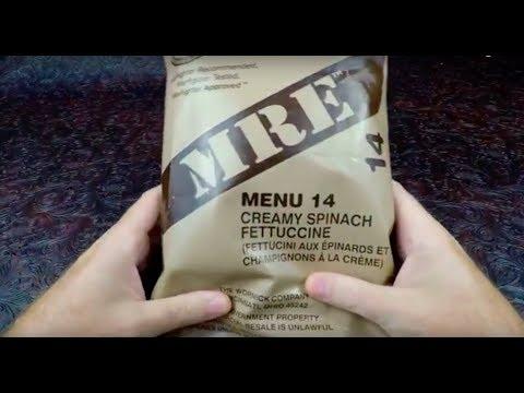 2016 U.S. Military Menu 14 Creamy Spinach Fettuccine
