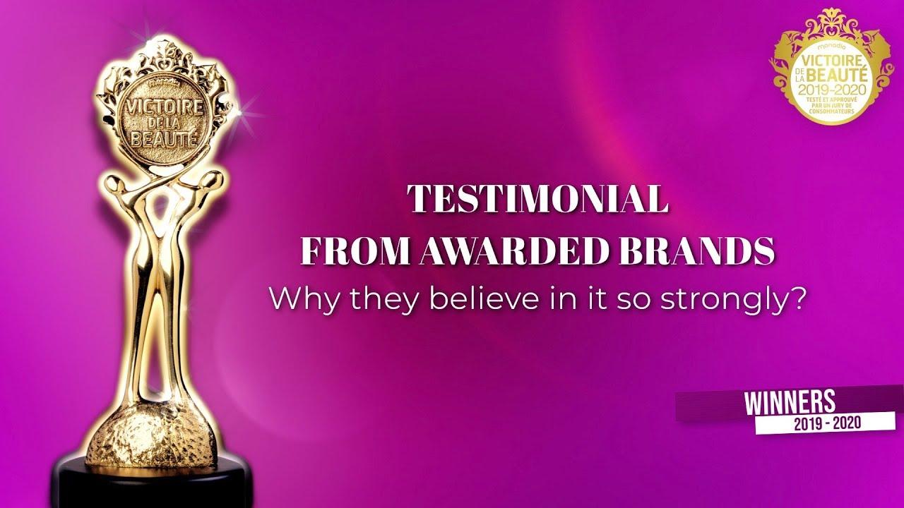 Testimonial from awarded brands (Victoires de la Beauté 2019/2020)