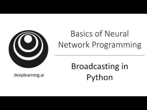 Broadcasting in Python (C1W2L15)
