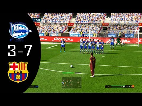 PES 2017 | Alaves vs FC Barcelona | MESSI free kick Goal & Full Match | Gameplay PC