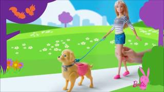 Smyths Toys - Barbie Doll Walk and Potty Pet Pup