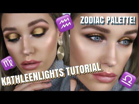 I FOLLOWED A KATHLEENLIGHTS TUTORIAL | Zodiac Palette! | Colourpop thumbnail