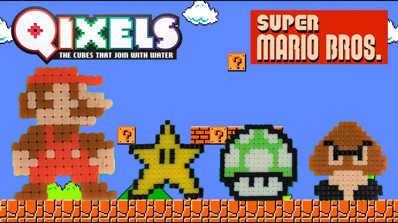 Qixels Super Mario Bros Pixel Art Time Lapse Build
