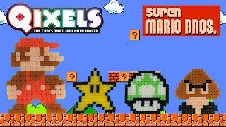 Qixels Super Mario Bros Pixel Art Time-Lapse Build