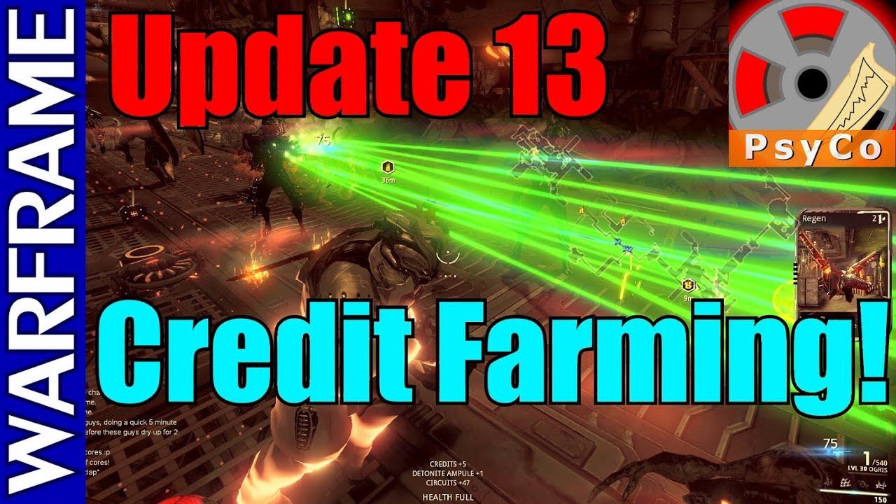 Warframe Update 13 Credit Farming! 1080HD - YouTube