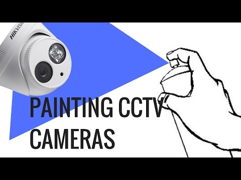 Spray Painting Hikvision IP Camera