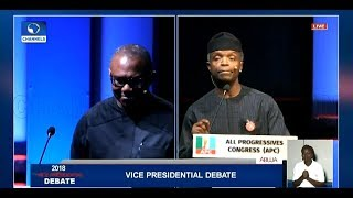 #2019Debate: Obi Tackles Osinbajo Over Subsidy On Petroleum Products