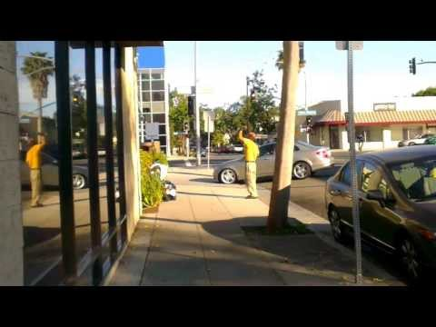 Homeless exercises on Yale and Santa Monica blvd Part 1