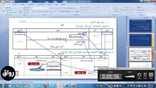 رواق : مبادئ المحاسبة - المحاضرة 3 - الجزء 2