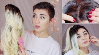 One of Hannah Forcier's most viewed videos: Cutting and Styling My New Wig! Try on, Review and Transformation