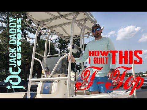 DIY Homemade T Top From Aluminum Conduit And Starboard For The Carolina Skiff Ultra Elite