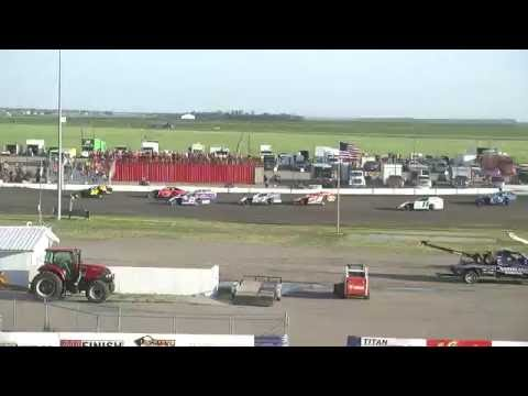 Red River Valley Speedway 06/24/2016 - IMCA Modifieds Heat 1