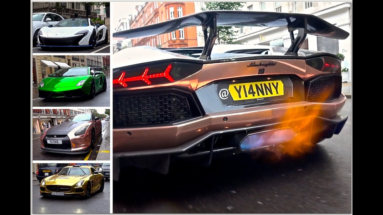London Supercar Insanity #62 - Flaming Aventador, Armytrix GTR, P1 & More!!