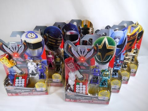 Review: 2015 Legendary Ranger Key Packs Wave 1(Power Rangers Super Megaforce)