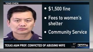 District Attorney  TAMU professor convicted of domestic violence
