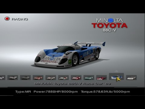 Gran Turismo 4 - Toyota Car List PS2 Gameplay HD