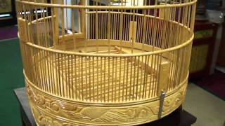 Oriental Chinese Bamboo Hand-made Birdcage S2169m
