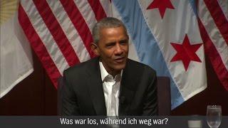 """Obama-Auftritt in Chicago: """"Was war los, während ich weg war?"""""""