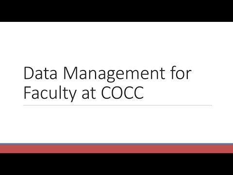 Data Management for Faculty