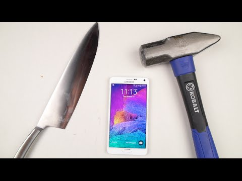Samsung Galaxy Note 4 Hammer & Knife Test