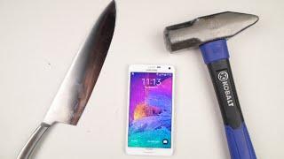 Samsung Galaxy Note 4 Hammer & Knife Test