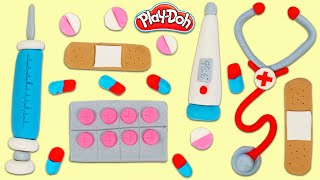How to Make Play Doh Toy Doctor Tools & Supplies | Fun & Easy DIY Play Dough Art!