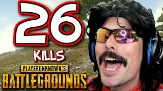 "DrDisRespect's ""26-KiII Duo Game"" on PUBG with Vsnz!"
