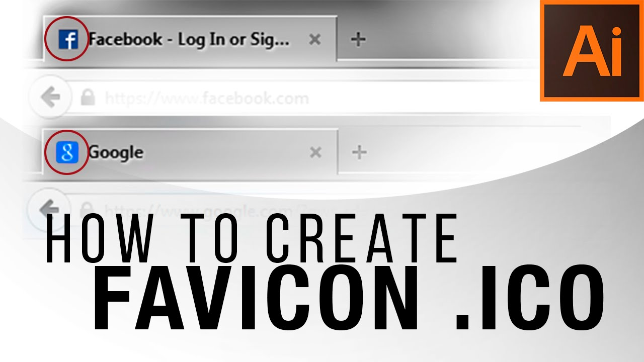 How To Create A Favicon Ico Illustrator Tutorial Youtube