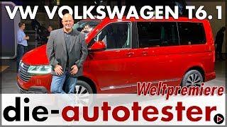 Volkswagen VW T6.1 - Weltpremiere des neuen Bulli   2019   Facelift   Sitzprobe   Review   Deutsch