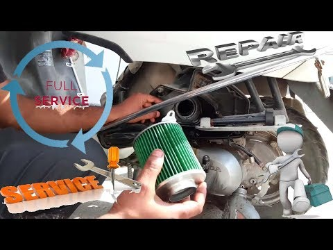 Servicing of scooter | Honda Activa air filter| engine oil | gear oil