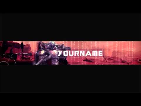youtube banner template destiny hunter titan banner ps4 xbox one pc simple free 2014 youtube. Black Bedroom Furniture Sets. Home Design Ideas
